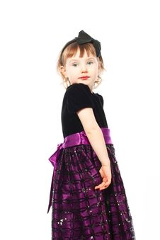 Free Little Cute Girl In A Dress Stock Photography - 24599972