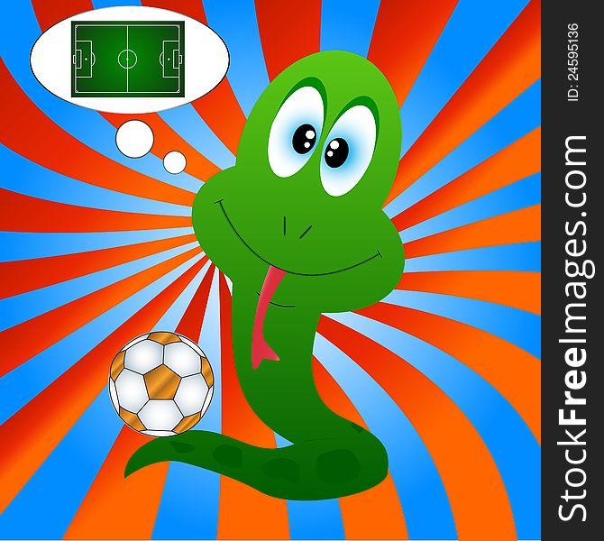 Snake and football