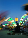 Free Amusement Park At Dusk Stock Photography - 2467652