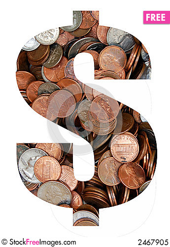 Free Currency In Coins Royalty Free Stock Photo - 2467905