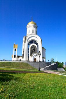 Free Church On A Hill Stock Image - 2460111