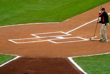 Free Groundskeeper Home Plate Royalty Free Stock Photos - 2460278