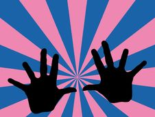 Free Hands With Retro Background Royalty Free Stock Image - 2460376