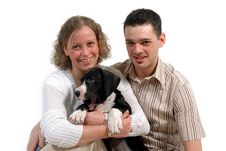 Free Couple And Dog Royalty Free Stock Photos - 2460858