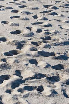 Sand Prints Stock Photography