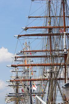 Free Masts Of Tall Sailing Ships Royalty Free Stock Photos - 2462698