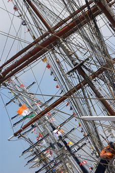 Free Masts Of Tall Sailing Ships Royalty Free Stock Photography - 2462777