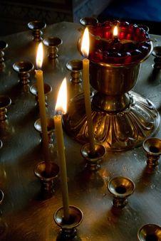 Free Burning Candles Stock Photo - 2463680