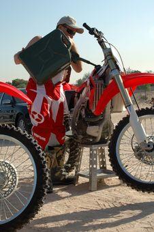Motocross Rider Royalty Free Stock Photo