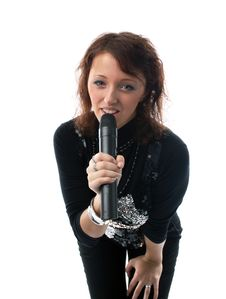 Free Girl Sings Stock Photography - 2464482