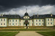 The Baroque Castle Manetin Stock Photos
