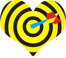 Free Heart Target With Dart Royalty Free Stock Photo - 2465545