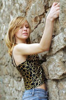 Free Beautiful Girl Climbing Royalty Free Stock Photo - 2465875