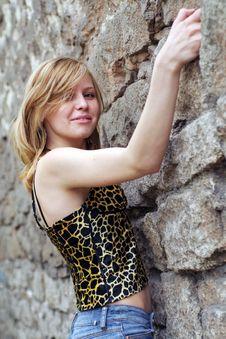 Free Beautiful Girl Climbing Royalty Free Stock Photo - 2465925