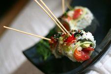 Free Skewered Sushi Dish Royalty Free Stock Photography - 2466007