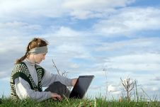 Free Woman With Notebook Stock Photography - 2466832