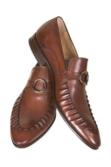Free Brown Man S Low Shoes Royalty Free Stock Photography - 2467237