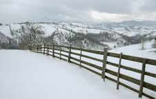 Free Fence In The Mountains Stock Image - 2468271