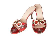 Free Red Shoes With An Ornament Stock Images - 2468364