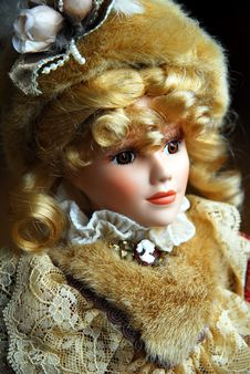 Free Elegant Doll Closeup Stock Photo - 2468990