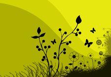 Free Yellow Meadow Illustration Royalty Free Stock Photo - 2469775