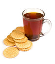 Free Glass Cup Of Tea And Cookies Stock Photography - 24608912