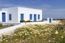 Free Traditional House At Santorini, Greece Royalty Free Stock Photos - 24606888