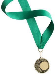 Free Medal On White Royalty Free Stock Photo - 24606945