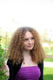 Free Curly Girl Portrait Stock Photo - 24609370
