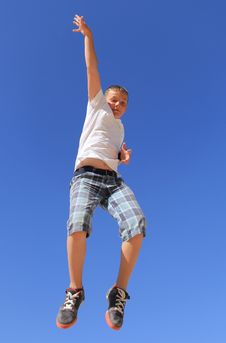 Free Boy Jumping Stock Images - 24609664