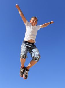 Free Boy In Flight Stock Photography - 24609732