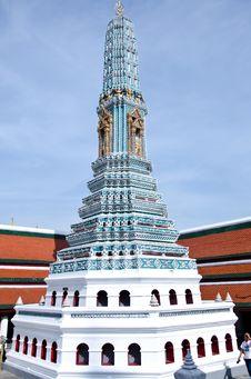 Free Blue Pagoda In Wat Phra Keaw Stock Image - 24609781