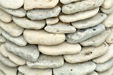 Ocean Shore Stones Background Stock Photography