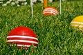 Free Croquet Balls Stock Photography - 24610172