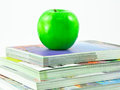Free Books And An Apple Royalty Free Stock Photos - 24616548