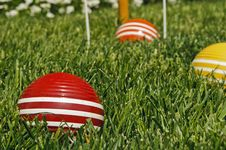Free Croquet Balls Stock Photography - 24610172
