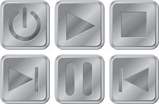 Free Buttons For Media Player Royalty Free Stock Photography - 24610247