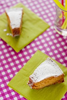 Picnic With Homemade Cake Stock Images