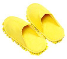 Free Yellow Slippers Royalty Free Stock Image - 24618466