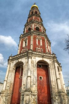 Bell Tower In Novodevichy Convent Royalty Free Stock Photo