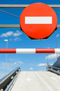 Free Stop Signal In Blue Sky Royalty Free Stock Photography - 24620937