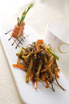 Chinese Food Braised Eel Stock Image