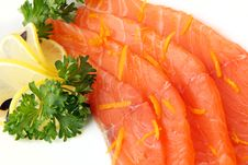 Free Sliced Salmon Close Up Stock Photo - 24625320