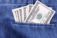 Free Money In Pocket Stock Photo - 24625450