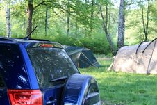 Free Car Camping Royalty Free Stock Photos - 24626178