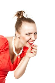 Free Smiling Beautiful Woman Royalty Free Stock Photography - 24627397