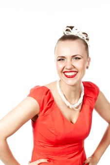 Free Smiling Beautiful Woman Royalty Free Stock Photography - 24628567