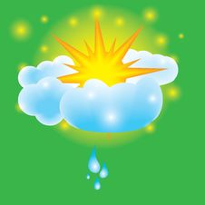 Summer Design Elements Sun Clouds Royalty Free Stock Photography