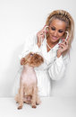 Free Veterinary Doctor And A Dog Stock Photography - 24632872