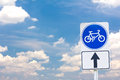 Free Sign Of A Bike Or Bicycle Lane Stock Photos - 24634153